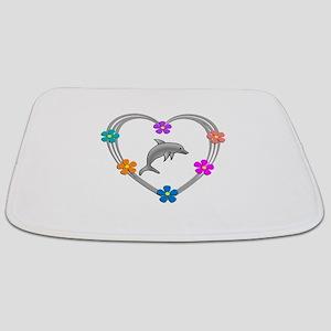 Dolphin Heart Bathmat