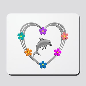 Dolphin Heart Mousepad