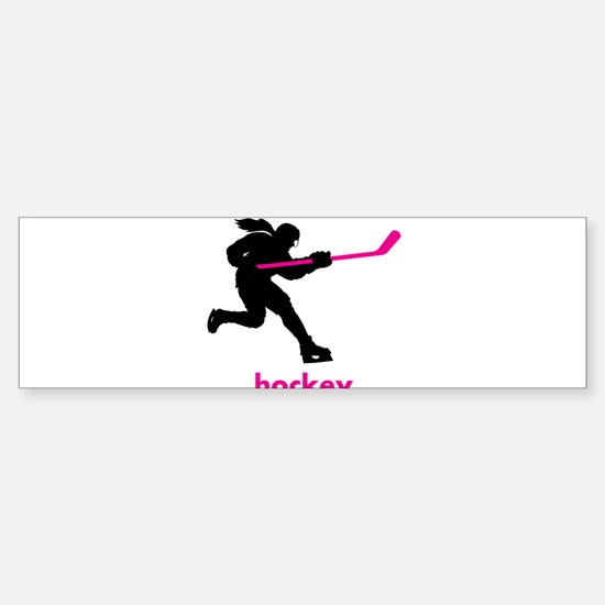 Play Hockey Bumper Bumper Bumper Sticker