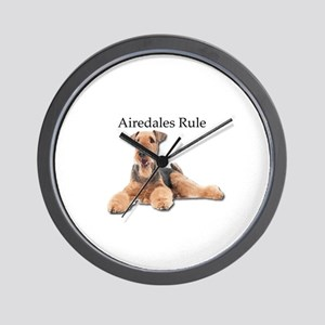 Airedales Rule Wall Clock