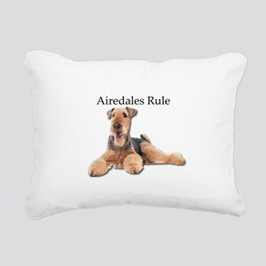 Airedales Rule Rectangular Canvas Pillow