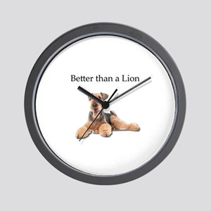 Airedales are much better than Lions Wall Clock