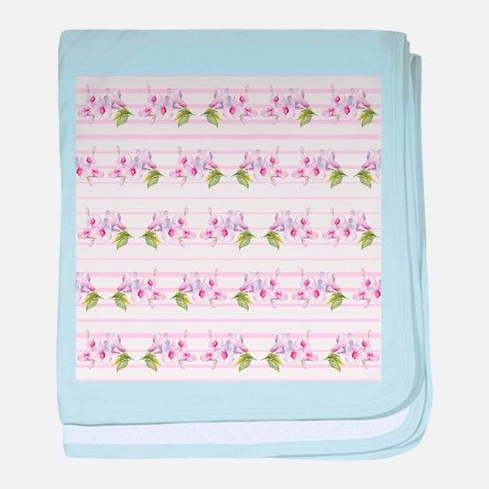 Floral pattern baby blanket