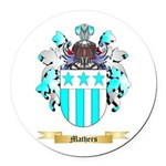 Mathers Round Car Magnet