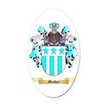 Mather Oval Car Magnet