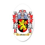 Mathee Oval Car Magnet