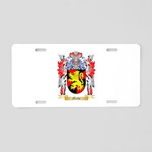 Mathe Aluminum License Plate