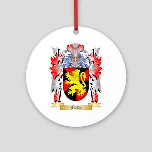Mathe Round Ornament