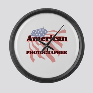 American Photographer Large Wall Clock