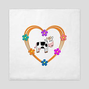 Cow Heart Queen Duvet