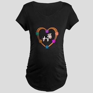 Cow Heart Maternity Dark T-Shirt