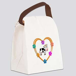 Cow Heart Canvas Lunch Bag