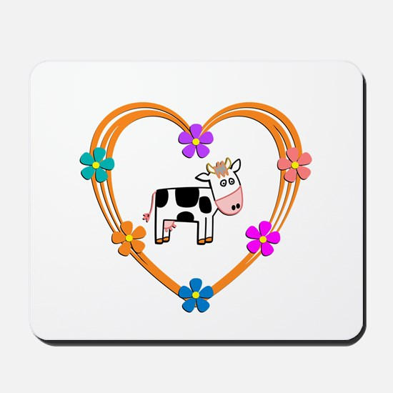 Cow Heart Mousepad