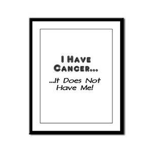 I Have Cancer It Does Not Have Me Framed Panel Pri