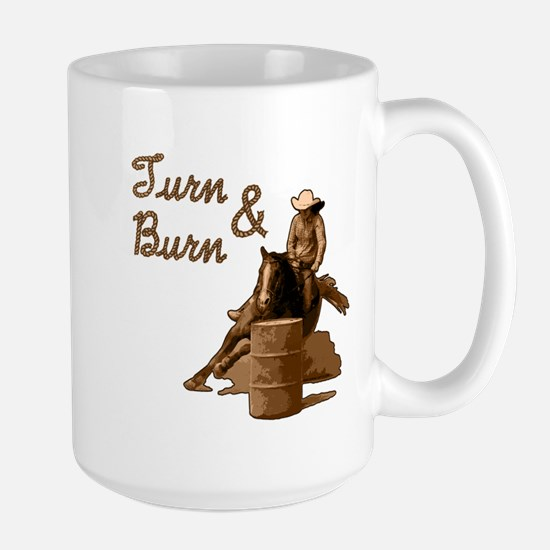 Turn & Burn. Western Cowgirl. Large Mug