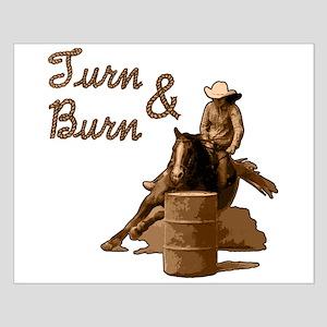 Turn & Burn. Western Cowgirl. Small Poster