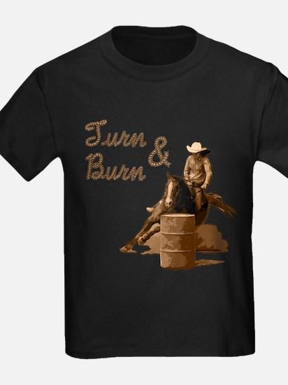 Turn & Burn. Western Cowgirl. T