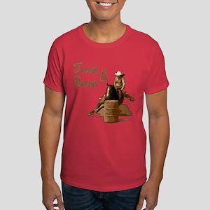 Turn & Burn. Western Cowgirl. Dark T-Shirt