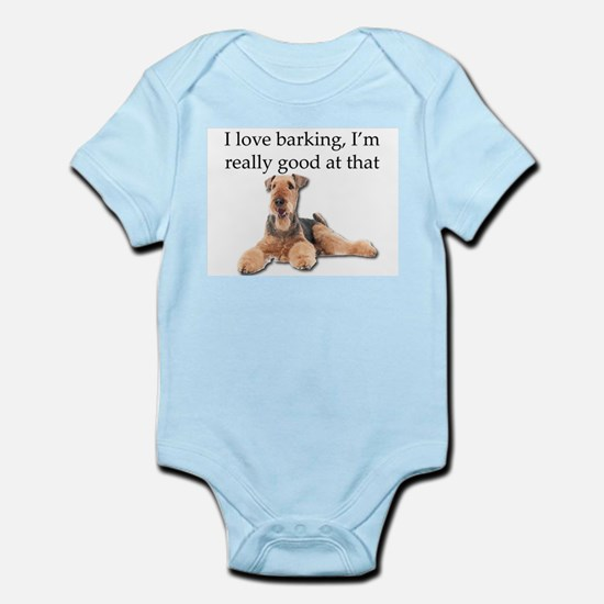 Airedale Terrier is Really good at barki Body Suit