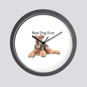 Airedale Terrier is Best Dog Ever Wall Clock