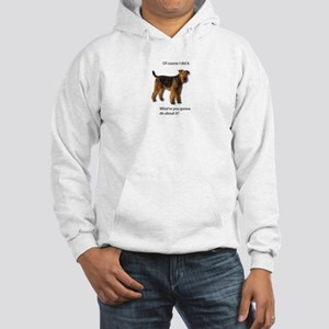 Guilty Airedale Shows No Remorse Hooded Sweatshirt