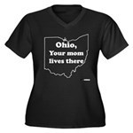 Ohio, Your Mom Lives There Women's Plus Size V-Nec