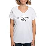 USS ENTEMEDOR Women's V-Neck T-Shirt