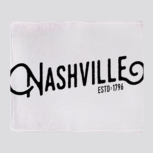 Nashville Tennessee Throw Blanket