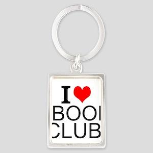 I Love Book Clubs Keychains