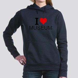 I Love Museums Women's Hooded Sweatshirt