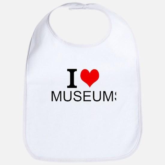 I Love Museums Bib