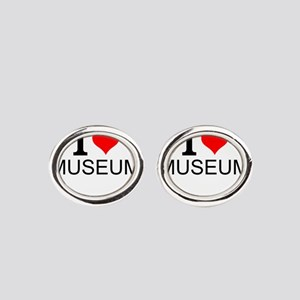 I Love Museums Oval Cufflinks