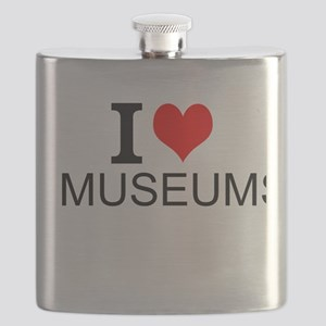 I Love Museums Flask