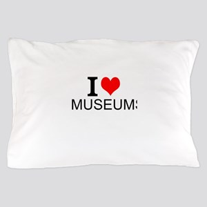 I Love Museums Pillow Case