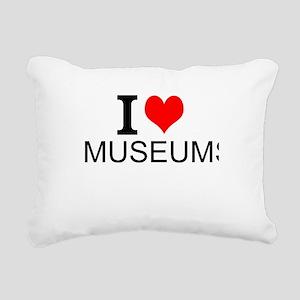 I Love Museums Rectangular Canvas Pillow