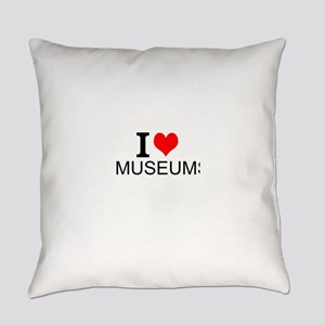 I Love Museums Everyday Pillow
