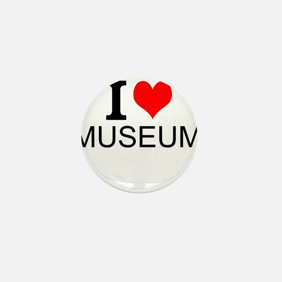 I Love Museums Mini Button