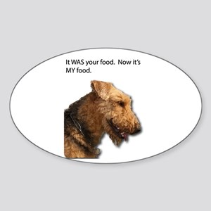 Airedale Terrier takes control of your foo Sticker