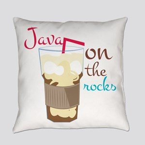 Java On Rocks Everyday Pillow