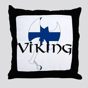 Finnish Viking Axe Throw Pillow