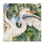 Snowy Egret Tile Coaster