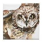 Pueo Hawaiian Owl Tile Coaster