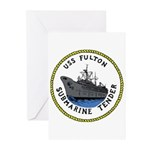 USS Fulton (AS 11) Greeting Cards (Pk of 20)
