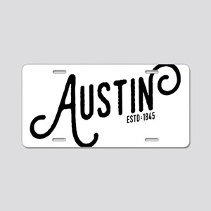 Austin Texas Aluminum License Plate