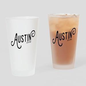 Austin Texas Drinking Glass