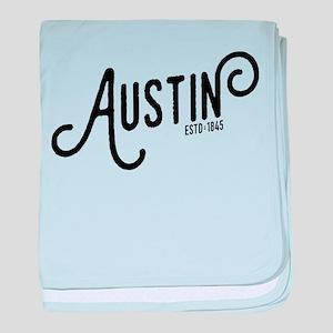 Austin Texas baby blanket