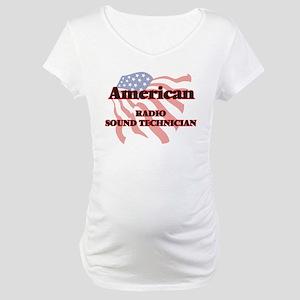 American Radio Sound Technician Maternity T-Shirt