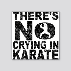 There's No Crying In Karate Sticker