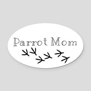 Parrot Mom Oval Car Magnet