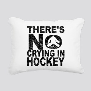 There's No Crying In Hockey Rectangular Canvas Pil